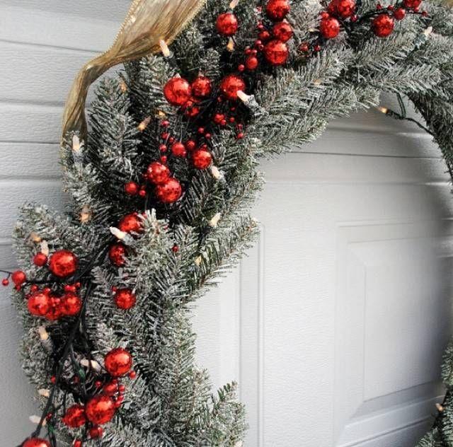 Oltre 25 fantastiche idee su decorazioni natalizie da - Ghirlande luminose per esterno ...