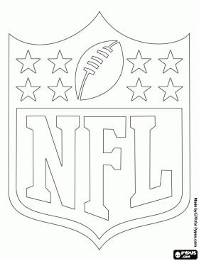 Logo of the NFL. National Football League coloring page
