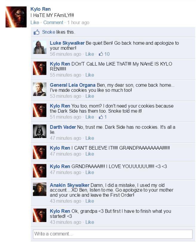 Kylo Ren Hates His Family by valeniefantartist on Tumblr http://valeniefantartist.tumblr.com/