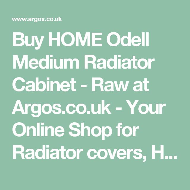 Buy HOME Odell Medium Radiator Cabinet - Raw at Argos.co.uk - Your Online Shop for Radiator covers, Home furnishings, Home and garden.