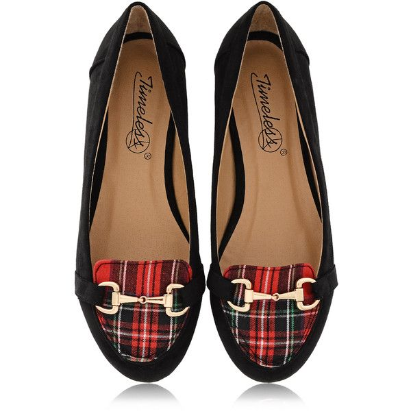TIMELESS MARISA Tartan Slipper Ballerinas ($53) ❤ liked on Polyvore featuring shoes, flats, footwear, scarpe, leather flat shoes, flat shoes, ballerina flat shoes, leather ballet shoes and plaid ballet flats