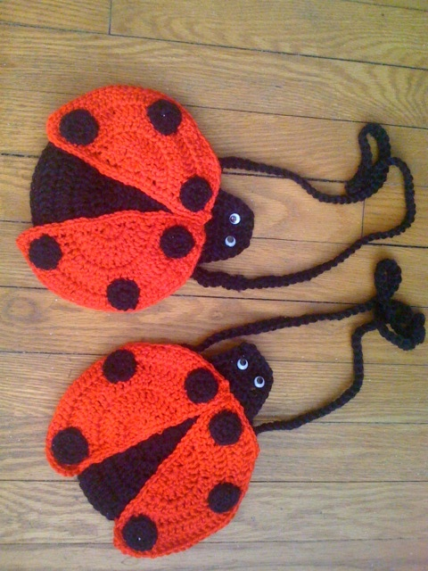 Crocheted Ladybug Purses for little Girls