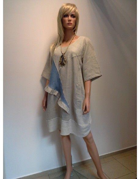 SUKIENKO - TUNIKA  278,00 zł brutto Stan:  Nowy produkt  naturalne materiały  ozdobione i ręcznie robione wzory są dziełem polskich projektantów  kolor beż  rozmiar L