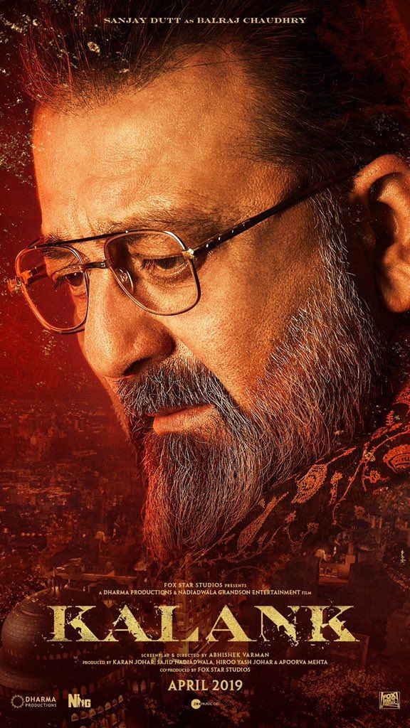 Sanjay Dutt Is Balraj Chaudhry With A Salt Pepper Beard Look In Kalank Bollywood Movie Cast Images Movies