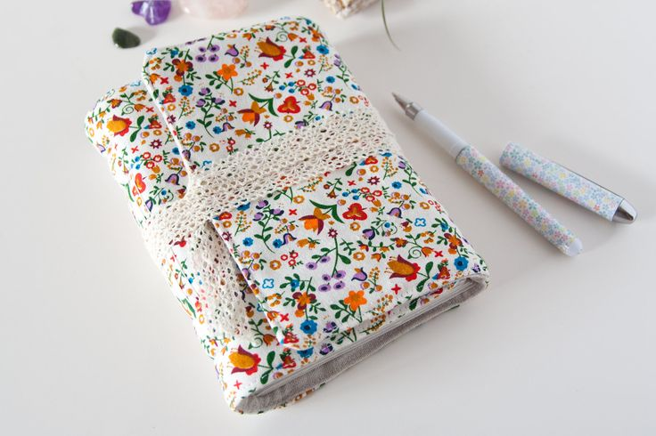 Blank Notebook – Cute Notebook with Floral Fabric Cover – Gifts for Her Under 30 by Mettaville on Etsy