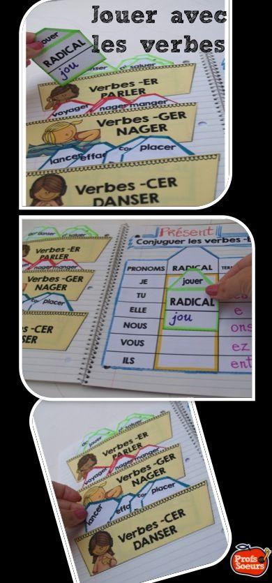 Jouer avec les verbes pour en trouver les terminaisons: Cahier interactif