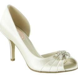 @Overstock - These D'Orsay style bridal shoes are made of dyeable satin, have an elegant peep toe and are decorated with a sparkling crystal brooch. Enjoy the comfort of a padded sole on your special day.http://www.overstock.com/Clothing-Shoes/Womens-Pink-Paradox-London-Kiss-White/7489848/product.html?CID=214117 $89.95