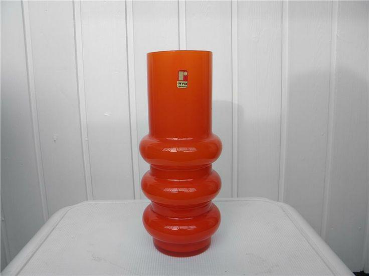 Orange Vas Ryd Ryds Glasbruk Glasvas Retro 60 70 Tal L 228 Cker Orange Retro Vas Fr 229 N Ryds Glasbruk