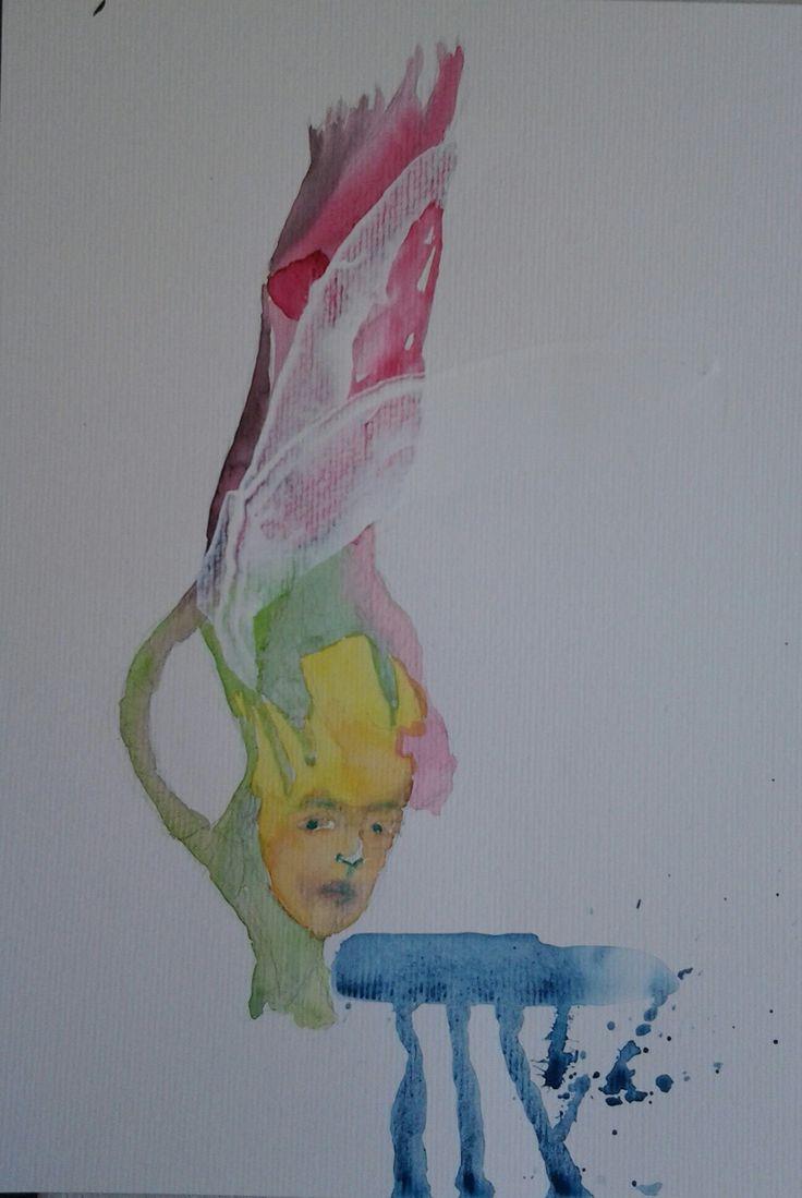 Francisco Rosa Fisionomia 21X29,5 cm Técnica: aquarela, têmpera branca sobre papel.