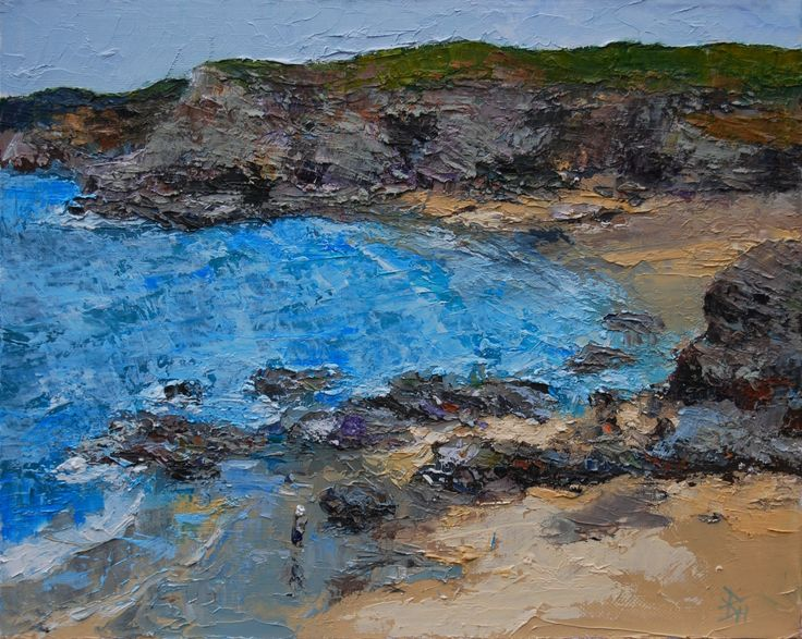 North Cornwall Coast 1, Oil painting by Brian Hanson | Artfinder