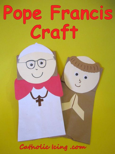 Pope Francis Craft for Kids (puppet)