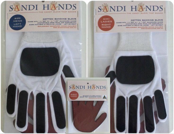 My New Creation - The Handy Glove that Sands.  $19.95 per Glove Pack - includes 1 x Sanding Glove + 2 Sandpaper Replacement Mits - www.sandihands.com.au