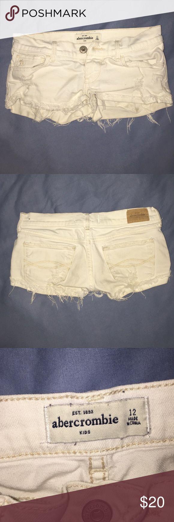 abercrombie kids white jean shorts white jean shorts, size 12 abercrombie kids Shorts Jean Shorts