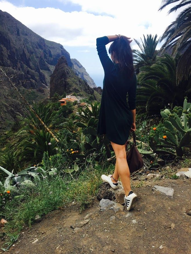 Travel/Green dress/Primark dress/Tenerife/Canarian Islands/MASCA view/Jungle
