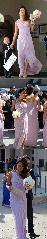 Royal blue chiffon one shoulder bridesmaid dresses with side split - Long Bridesmaid Dress Chiffon Bridesmaid Dress One Shoulder Bridesmaid Dress Floor