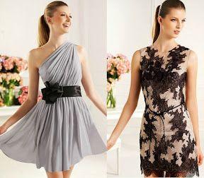 Dos estilos diferentes de vestidos cortos para asistir a una fiesta de bodas y lucir magnifica!!