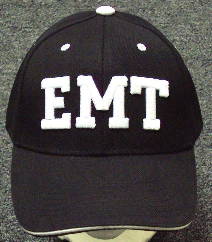 EMT EMERGENCY MEDICAL TECHNICIAN MEDIC HOSPITAL AMBULANCE EMS GEAR CAP HAT BLACK #PREMIUMHATS #BaseballCap