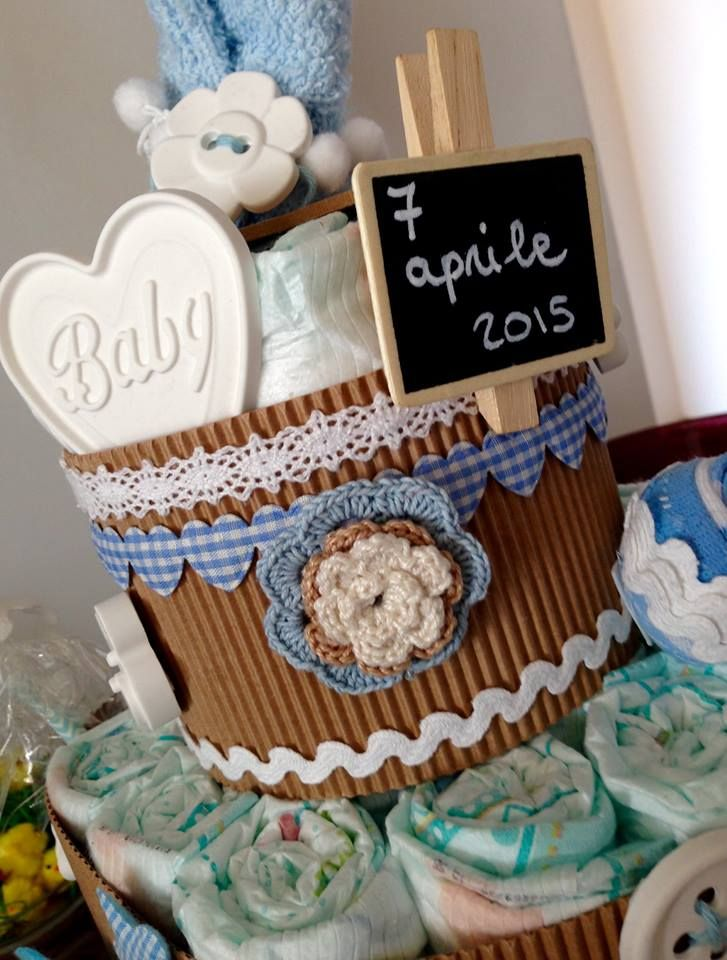 diaper cake boy torta pannolini