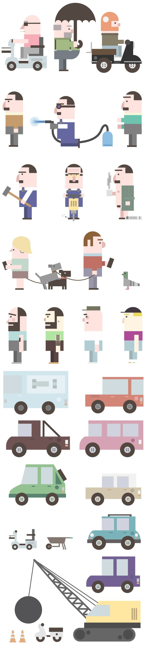 Not in my Front Yard by David Pocull, via Behance #character