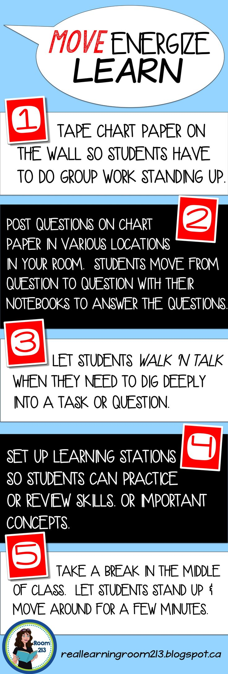 Moving to learn! Easy tips from Room 213.