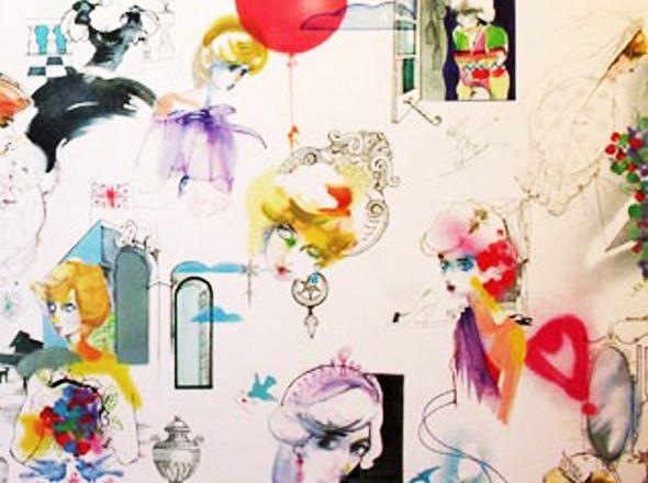 Julie Verhoeven's Princess Diana wallpaper.