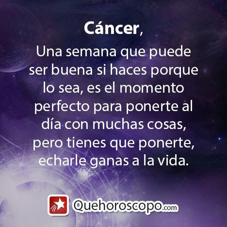 #Horoscopo #Cancer #Amor #Trabajo #Astros #Predicciones #Futuro #Horoscope #Astrology #Love #Jobs #Astrology #Future   http://www.quehoroscopo.com/horoscopodehoy/cancer.html