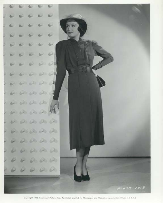 Gail Patrick, 1938. Edith Head, Designer.