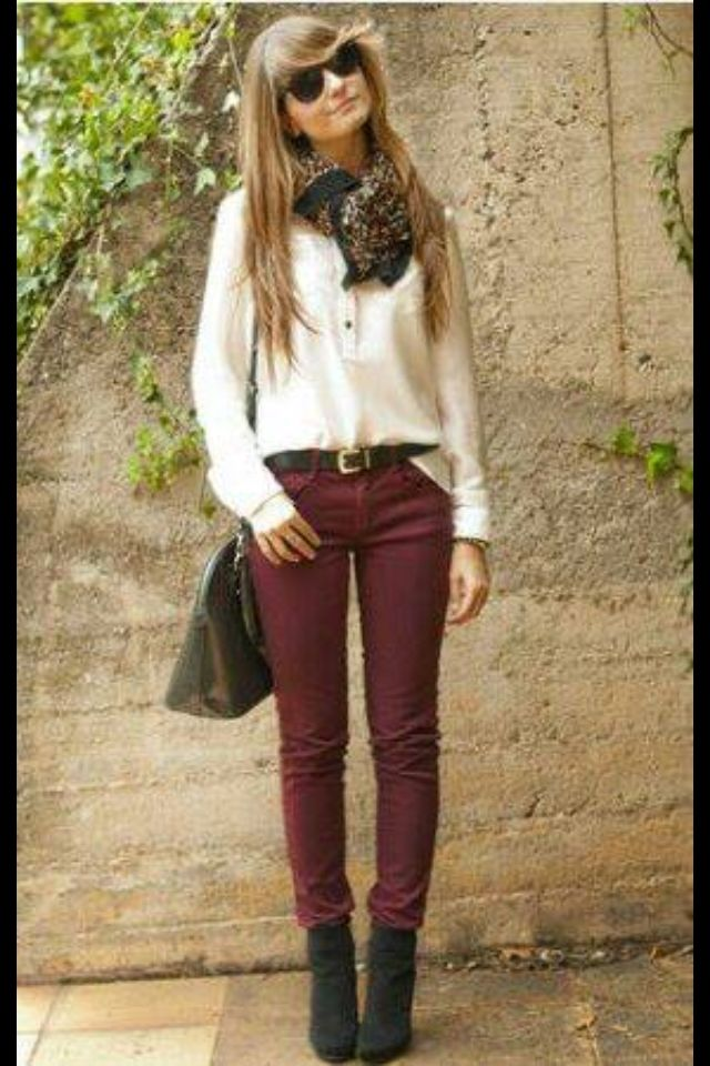 Love the maroon pants | Dream closet | Pinterest | Fall ...
