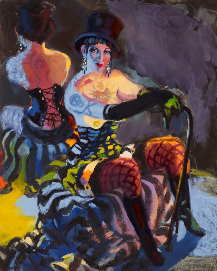 Archibald Prize Archibald 2013 finalist: Anything goes (Venus Vamp – burlesque star) by Wendy Sharpe