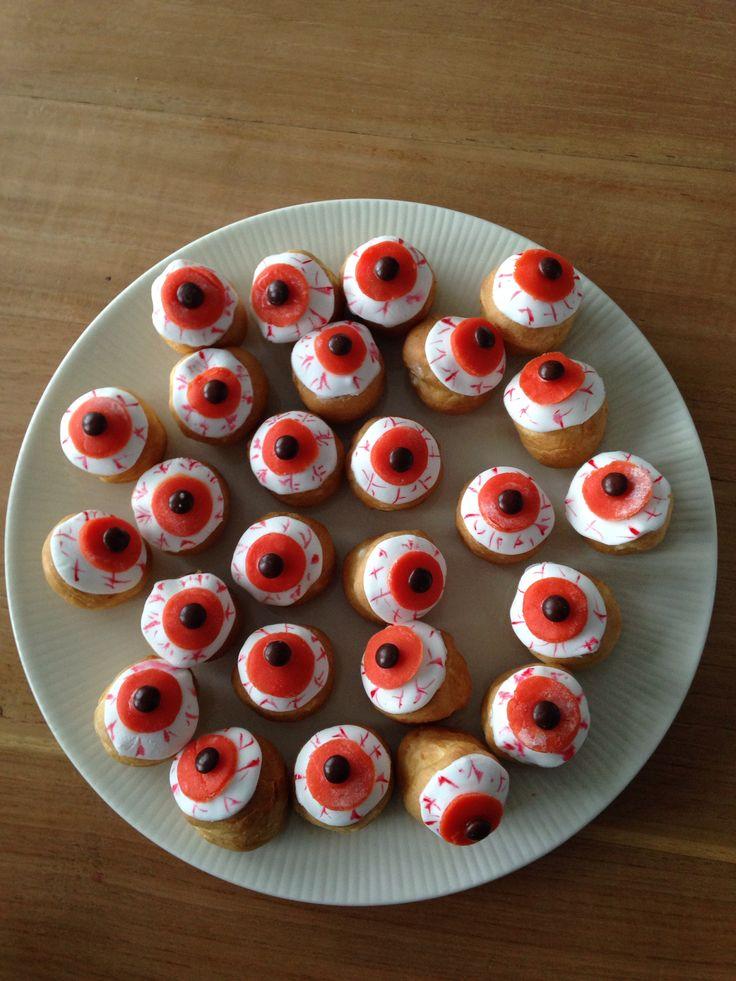 Soesjes als oogballen - Griezelfeestje | Pinterest ...