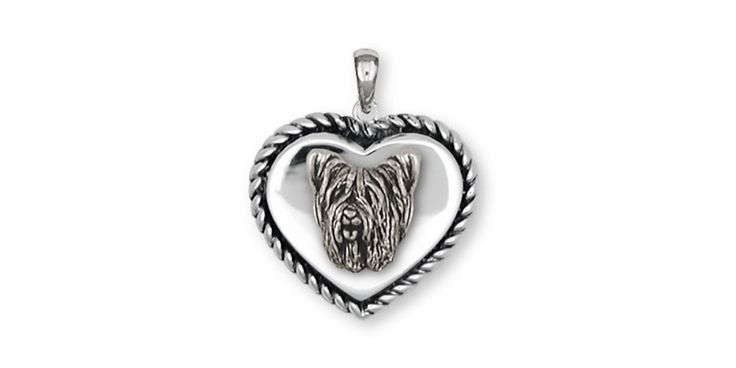 Skye Terrier Pendant Jewelry Sterling Silver Handmade Dog Pendant SKY1H-TP. This is hand made when ordered. 30 Day Money Back Guarantee.