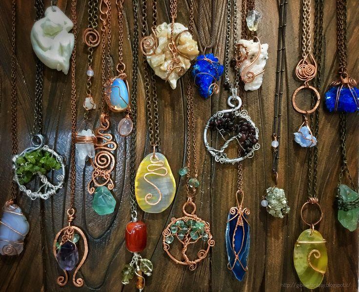 Ciondoli in filo di rame ritorto e pietre dure #miriamturoldo miriam.turoldo@gmail.com #gioiellifantasy #gioielli #wirewrappedjewelry #gemstone #copper #crystals #handmade #madeinitaly #gioielliartigianali #healingcrystals #wirewrappingjewelry #jewellerymiriam.turoldo@gmail.com  #gioiellifantasy #gioielli #wirewrappedjewelry #gemstone #copper #crystals #handmade #madeinitaly #gioielliartigianali #healingcrystals #wirewrappingjewelry #jewellery
