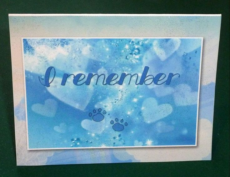I Remember Male Pet Sympathy Card by SouthamptonCreations on Etsy