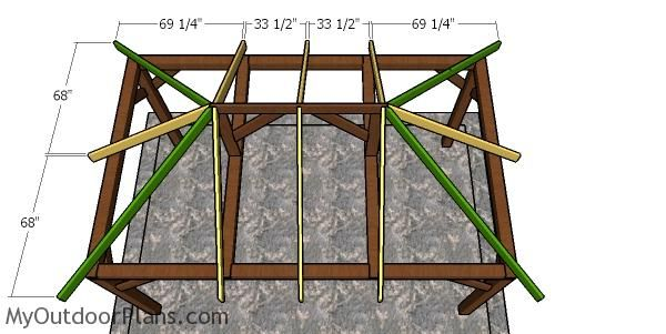 10x16 Gazebo Hip Roof Plans Myoutdoorplans Free Woodworking Plans And Projects Diy Shed Wooden Playhouse Pergola Bbq In 2020 Gazebo Roof Gazebo Wooden Gazebo