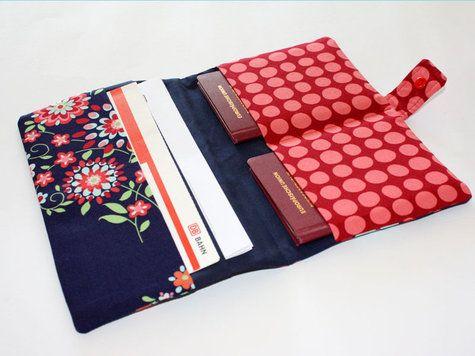 fabric passport/ticket holder