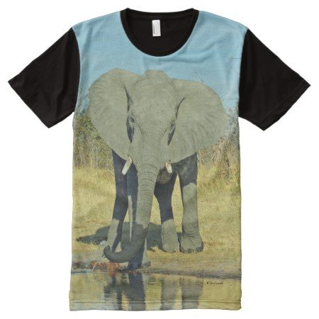MALE ELEPHANT ALL OVER DESIGN TSHIRT - click/tap to personalize and buy