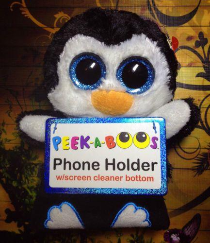 Ty-Beanie-Boos-Peek-A-Boos-6-Inch-Penni-Penguin-Smart-Phone-Holder