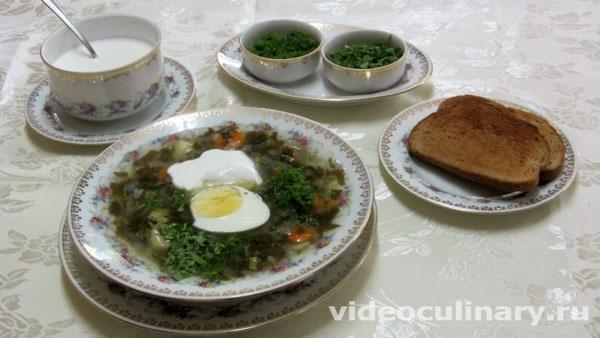 Холодные зелёные щи - фото-рецепт и видео рецепт