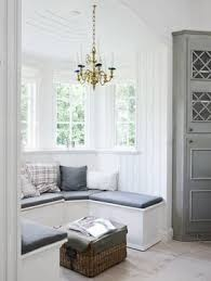 add benches/storage in some bay windows hamptons decor style - Google Search