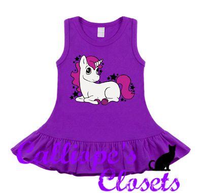 Unicorn Purple, White & Pink Sleeveless Dress