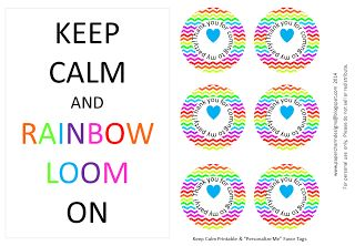 FREE Rainbow Loom Party Printables for followers of PaperCharm.