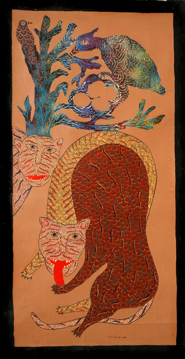 INDIAN TRIBAL ART( GOND) JANGARH SINGH SHYAM