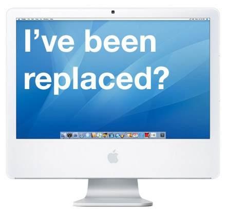PC  iMac G5  初代G5が動かなくなって、銀色iMac出てたけどホワイトにこだわってカメラ付きのG5購入。中古であまりもたなかった。。