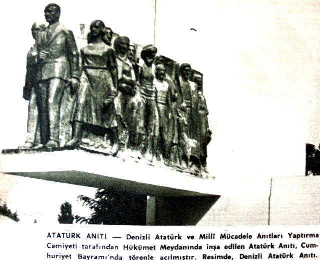 Denizli Atatürk anıtı 29 ekim 1968.