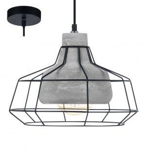Consett nowoczesna lampa wisząca w stylu vintage połączenie betonowego klosza z drucianym 189,90zl