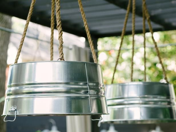 Great Bathroom Light Fixture With Outlet Outdoor Ceiling: How To Make A Light Fixture From A Galvanized Bucket