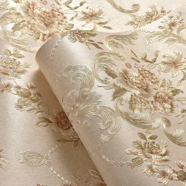 Deep embossed pastoral 3d flooring Bedroom TV Background Wall Paper Home Decor Living Room Non-woven Mural Wallpaper