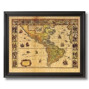 19 best old world ideas images on pinterest vintage maps solid wood black framed old world map vintage style photo wall decor pictures art print publicscrutiny Choice Image