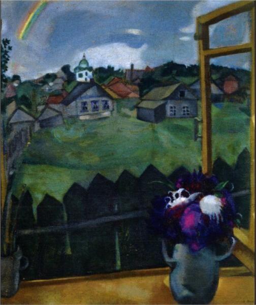 Marc Chagall, Window Vitebsk (1908)