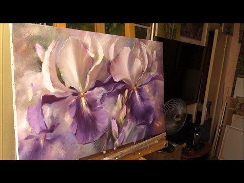 Небольшой урок живописи маслом. Ирисы. Alla Prima Oil Painting - YouTube